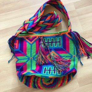 NWOT Colorful woven bag from Colombia